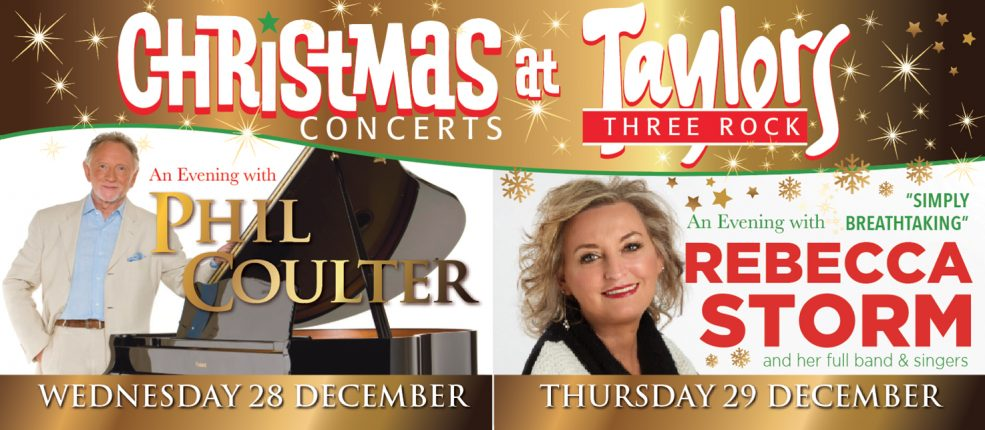 TAYLORS THREE ROCK CHRISTMAS CONCERTS