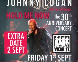 JOHNNY LOGAN ANNOUNCES EXTRA DATE on LATE LATE SHOW