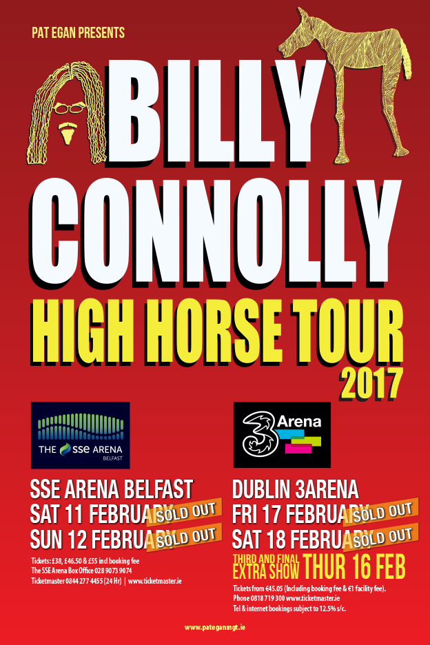 BILLY CONNOLLY HIGH HORSE TOUR 2017