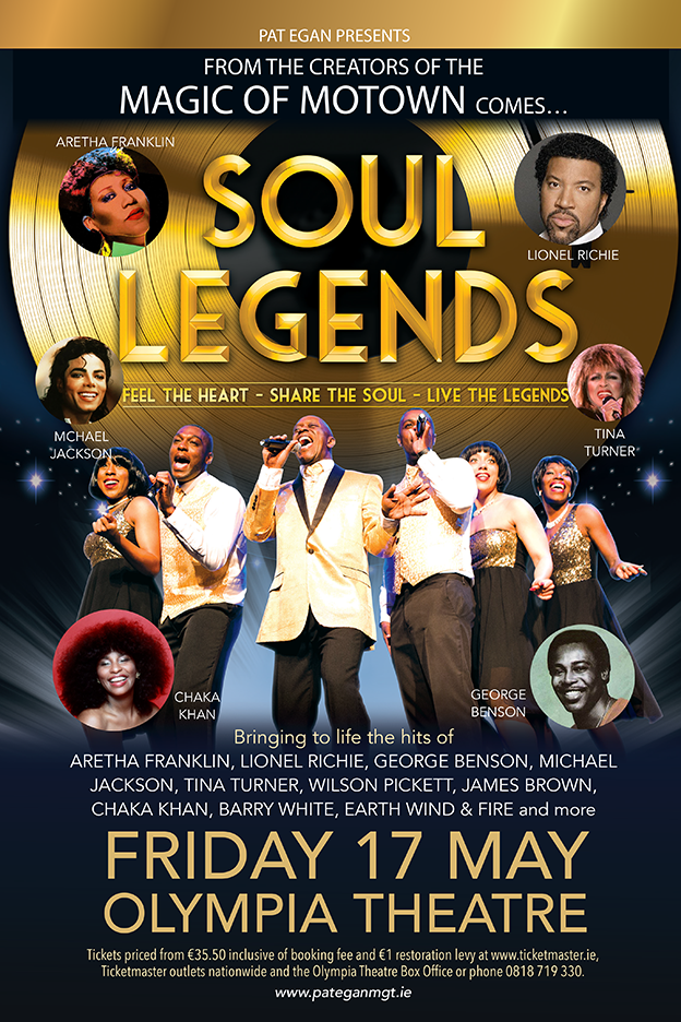 SOUL LEGENDS Olympia Theatre MAY 2019 60X40