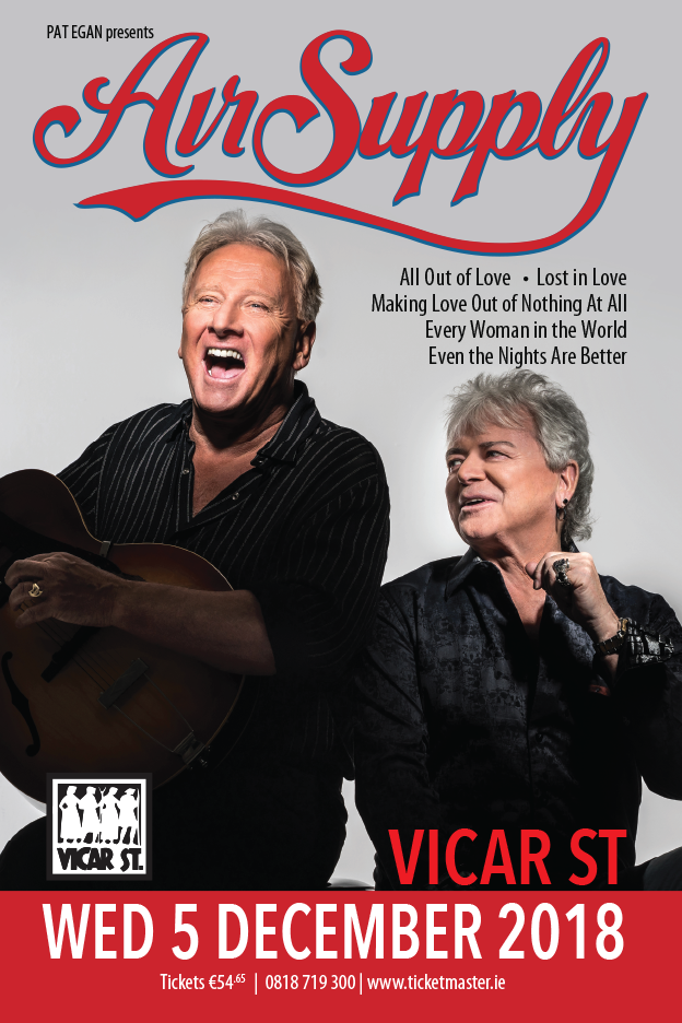 AIR SUPPLY VICAR ST DECEMBER 2018
