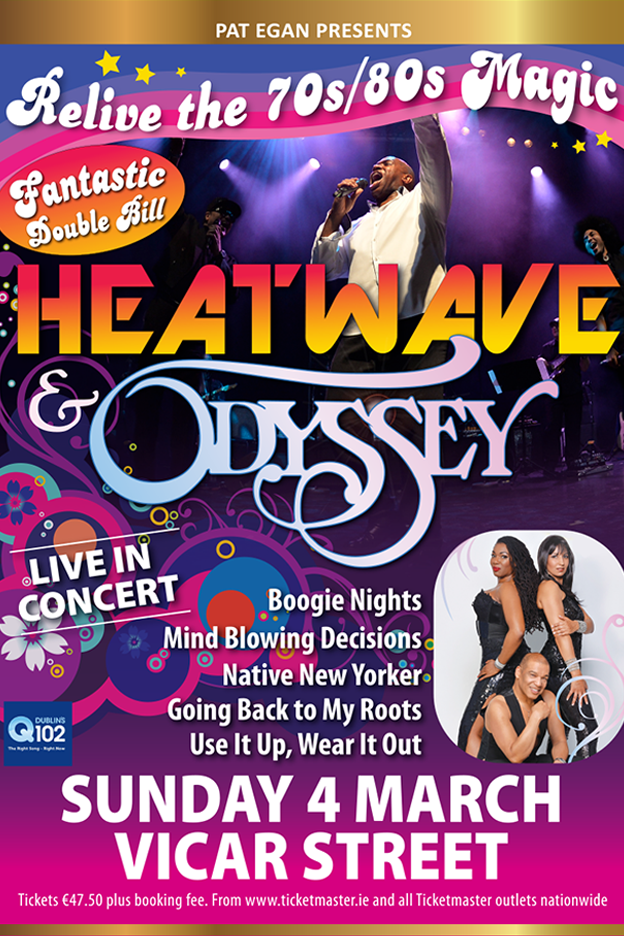 HEATWAVE & ODYSSEY VICAR ST 2018